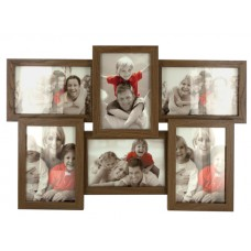 Walnut Look Collage Photo Frame