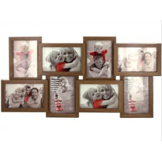 Sectioned Walnut Look Photo Frame