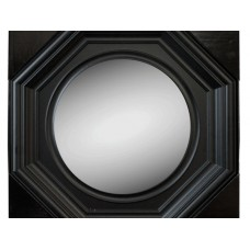 Black Octagon Wall Mirror