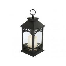 Decorative LED Lantern with Pillar Candle
