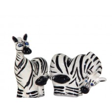 Safari Zebras Salt & Pepper Shakers Set