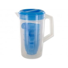 Transparent Plastic Pitcher with Cups