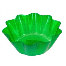 Green Glitz Fluted Party Bowl