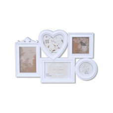 5 In 1 Heart Collage Photo Frame