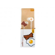 Ankit Toons Bacon & Eggs Earbuds