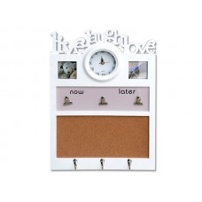 6 In 1 Photo Frame Message Board with Clock