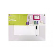 Framed Dry Erase Sheet & Marker Set