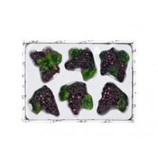 Decorative Grapes Magnets Set
