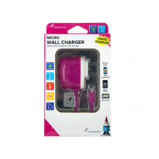 Travelocity Pink Micro USB Wall Charger