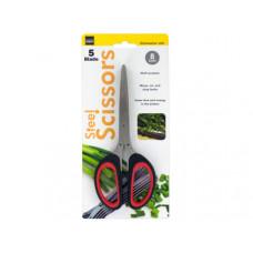 5 Blade Steel Multi-Purpose Scissors