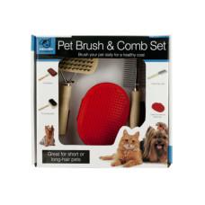 Pet Brush & Comb Grooming Set