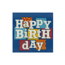 Happy Birthday Blocks Beverage Napkins Set