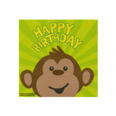 Monkeyin' Around Happy Birthday Napkins Set