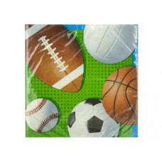 Celebrate Sports Beverage Napkins Set