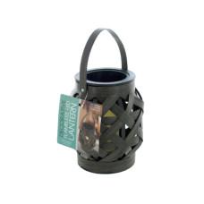 Decorative Basket Weave Lantern with LED Candle