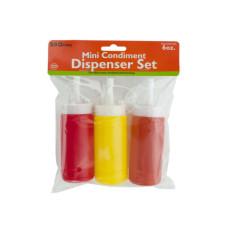 6 oz. Mini Condiment Dispenser Set