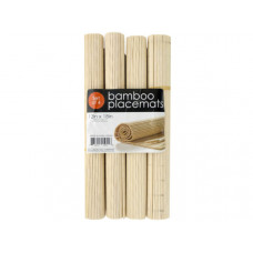 Roll-Up Natural Bamboo Placemats Set