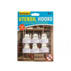 Reusable Utensil Hooks Set