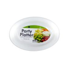 White Plastic Party Platter