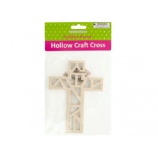 Hollow Wooden Craft Crosses Set