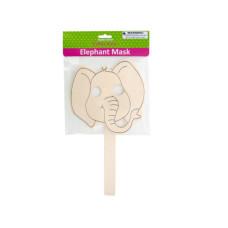 Wooden Craft Elephant Mask