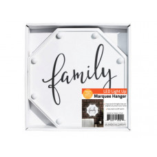 Family LED Marquee Hanging Wall Sign