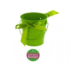 Mini Metal Craft Bucket with Ribbon