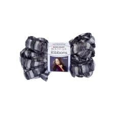Metallic Grey & Black City Ribbons Yarn