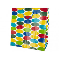 Extra Large Multi-Colored Dots Gift Bag