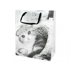Large Black & White Puppies & Kittens Gift Bag