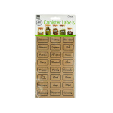 Clear Kitchen Canister Labels