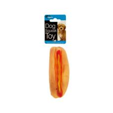Hot Dog Squeak Dog Toy