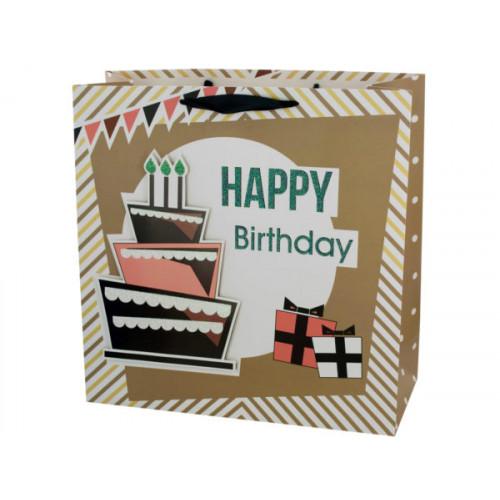 Extra Large Happy Birthday Cake Gift Bag