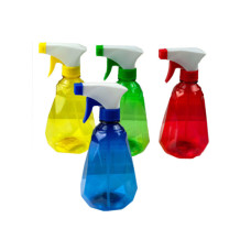 16 oz. Diamond Shape Plastic Spray Bottle
