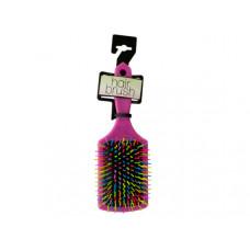 Rainbow Square Paddle Hair Brush
