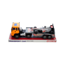 Friction Powered Trailer Truck with Race Car
