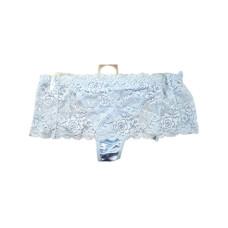 Light Blue Stretch Lace Underwear Thong - Women's Size 5