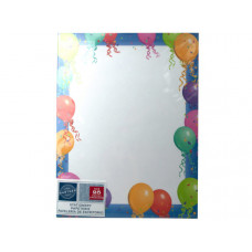 Balloon Border Stationery 25 Sheets