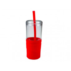 21 oz Keep Cool Red Grip Tumbler with Straw