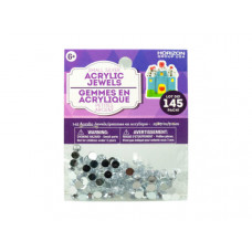 Small Silver Acrylic Jewels 145 Pack