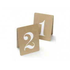 Rustic Table Numbers 1-12