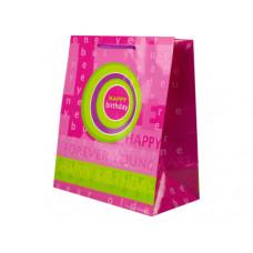 Pink and Green Birthday Medium Gift Bag