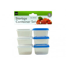6 Pack 3 ounce Storage Box Set