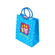 Blue Birthday Candles Medium Gift Bag