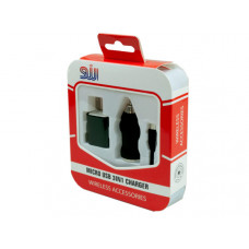 Black Micro USB 3in1 Charger Kit
