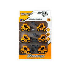 6 Piece Pull Back Super Friction Power Trucks