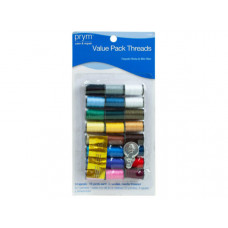 Sewing Value Pack with 24 Spools 3 Needles & Threader