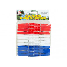 24 Count Plastic Spring Clothespins