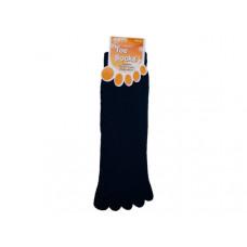 Mens Solid Color Toe Socks 9-11- Assorted Colors
