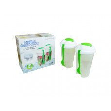 Green 2 Pack Salad Container Set with Ice Chamber